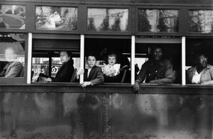 """Trolley—New Orleans, 1955. From """"The Americans."""" © Robert Frank. Published by Robert Delpire, then Grove Press, and most recently reprinted by Steidl."""