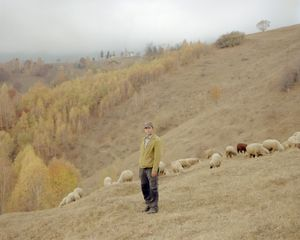 Mosu, forest ranger, photographed on his land in Magura Village, Piatra Craiului National Park [October, 2018]