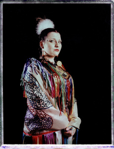 #15, Polish powwow dancer, Portrait taken at the local powwow convention, bleach Fuji Fp100c, negative scan, Uniejow, Poland 2015.