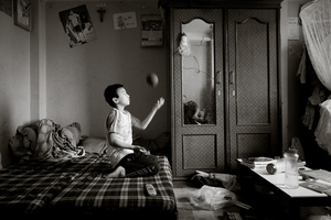 Ram Dai's son in the bedroom