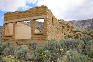 Abandoned Mining Camp, Colorado: Mining Office and Company Store.
