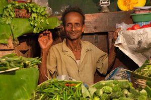 Vegetable Man, Lake Market, Kolkata