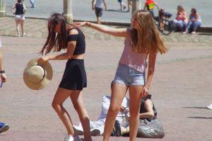 Strange street ballet.