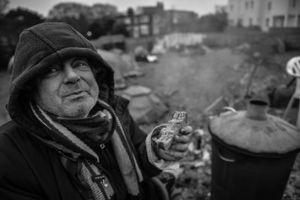 Tony, a homeless man of 6 years.