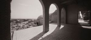 Cemetery and Walkway to Mosque, Tuyuq, Xinjiang Province, China