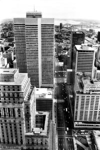 Place Ville Marie from CIBC Tower, Montreal, 1976