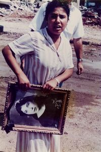 Woman with Photo