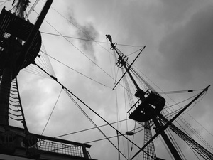 "Masts and Rigging, the Ship ""Amsterdam"""