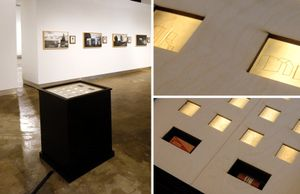 Installation documentation, light box with laser-etched negatives © Hans Gindlesberger