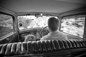 Father and Son in a Rolls Royce