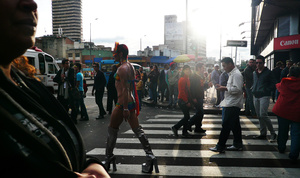 Bogota, guy parade