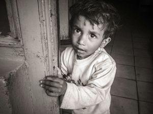 Boy in a doorway, Jawalakhel, Kathmandu