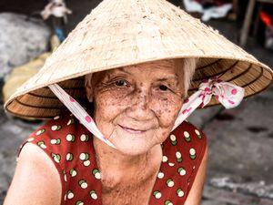 Vietnamese Grandma at Ho Chi Minh