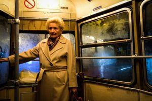 Old Lady in a Tram, Wien