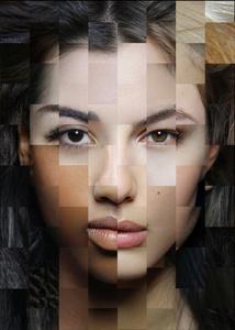 FACE GRADIENT of 66 different ethnic origins. Art-collage №3