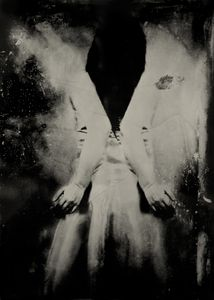 """Seeking to Reach an Ancient Goal. 10""""x14"""" Tintype. From the series """"Soma"""" © Michelle Rogers Pritzl"""