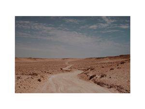 A desert road to nowhere. Western Sahara, Marocco.