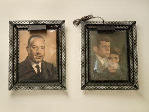 Portraits of Martin Luther King, Jr and President and Mrs John F. Kennedy,  Dexter Avenue Parsonage, Montgomery, Alabama 2017