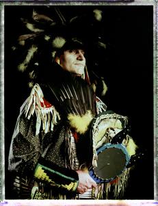 #5, Polish powwow dancer, Portrait taken at the local powwow convention, bleach Fuji Fp100c, negative scan, Uniejow, Poland 2015.