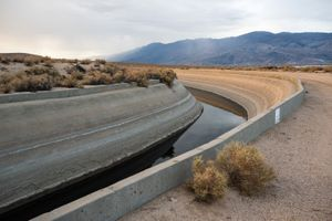 Los Angeles Aqueduct Canal, Western Shore of Owens Lake, CA