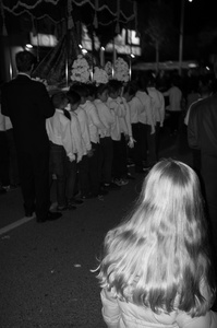 A finnish little girl watching the procession