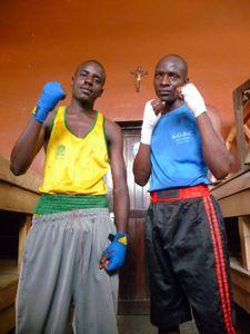 Left: Isaac Mejah (St John) - Right: Moses Owino (Kibera) At Nairobi Open.