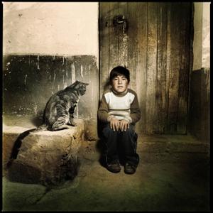 """""""Child with big cat"""""""