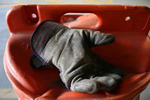 work glove and pylon