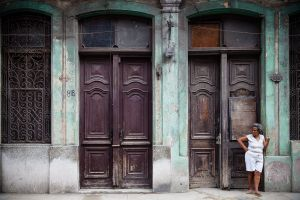 Woman Waiting, Havana, Cuba, 2010
