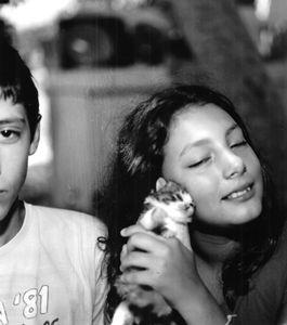 Krisanthi with Kitten