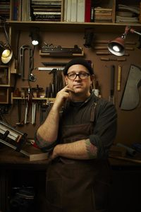 Matt Rubdendall - Guitar Maker, Redhook Brooklyn