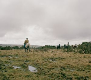 Dan Wilson riding across Bodmin moor