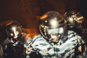 Riot police before the attack. Kiev, Dec. 11, 2014.
