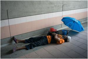 Street Photography - Sleeping Series 08 (Singapore)