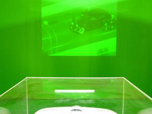 Ballot box projector. Film 'Real Regime'. Arles, July 2015