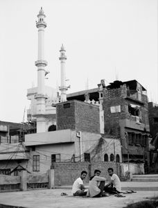 Studying on the roof of their mosque in Lucknow.   Uttar Pradesh 2017