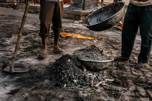 More than 600 kg of wood is needed for a single body cremation. The most expensive is a sandalwood.