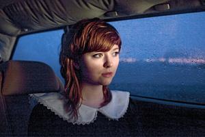 Hildur in her car