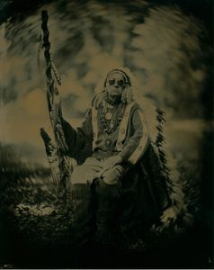 Chief Medicane Cat Seated. Assateague Tribe. died 2015