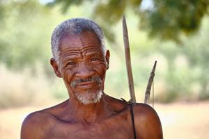 Traditional Ju/'hoansi hunter, Namibia.