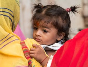 Gesichter Indiens - Zöpfchen