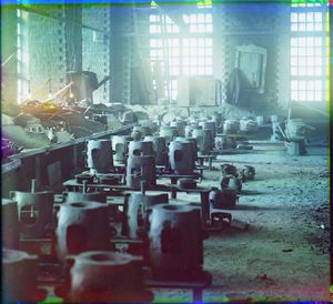 """Molding Shop at the Kasli Plant, Siberia, 1910 © Sergei Mikhailovich Prokudin-Gorskii, from the book """"Nostalgia"""". Images courtesy US Library of Congress and Gestalten publishers, Berlin."""