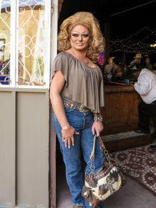 Woman with pony print purse, Phoenix, 2017