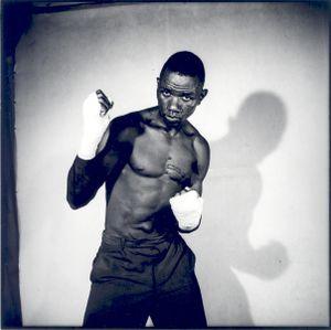 © Malick Sidibé, Boxer, 1966, gelatin silver print, 50 x 60 cm. Courtesy of Fifty One Fine Art Photography.