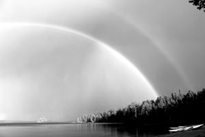 Double Rainbow with boats