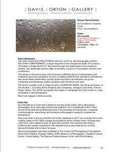 Davis Orton Gallery 6th Annual Exhibit catalog page