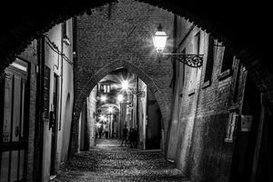 Old street in Ferrara