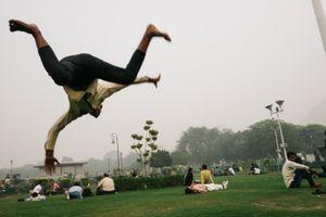 Central park. New Delhi, India, 2016