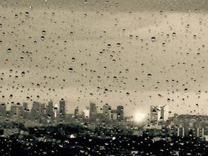 La Défense under the Rain