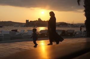 Syrian refugees, Bodrum, Mugla Province, Aegean Sea